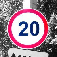"""Дорожный знак 3.24 """"Ограничение скорости"""" 20км/ч"""