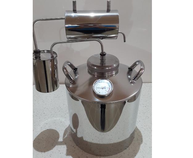 Самогонный аппарат Лидер, разборный большое горло с термометром 16л, горловина 100 мм