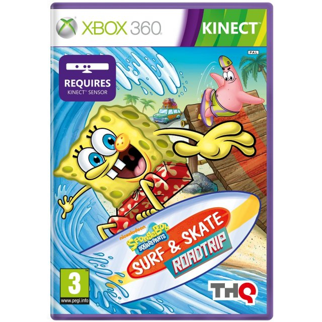 Игра SpongeBob Squarepants Surf & Skate Roadtrip (Xbox 360 Kinect)
