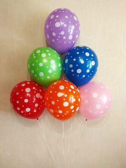 Кружочки латексные шары с гелием