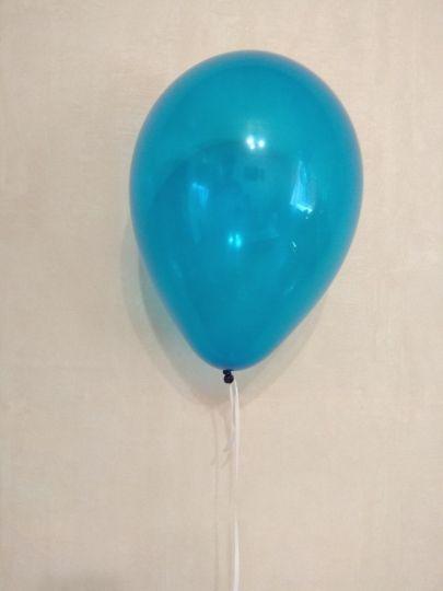 МИНИ шар синий прозрачный маленького размера с гелием