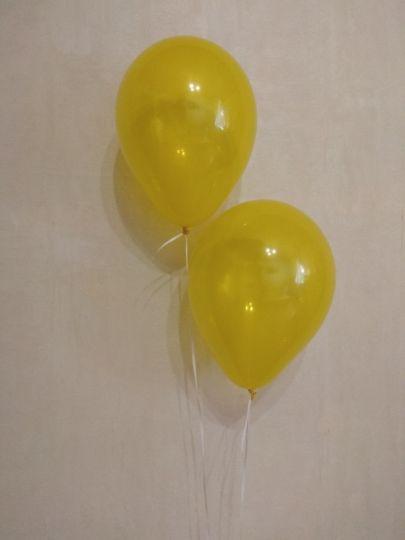 МИНИ шар желтый прозрачный маленького размера с гелием