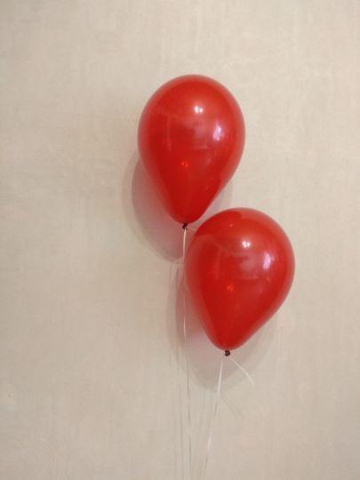 МИНИ шар красный прозрачный маленького размера с гелием