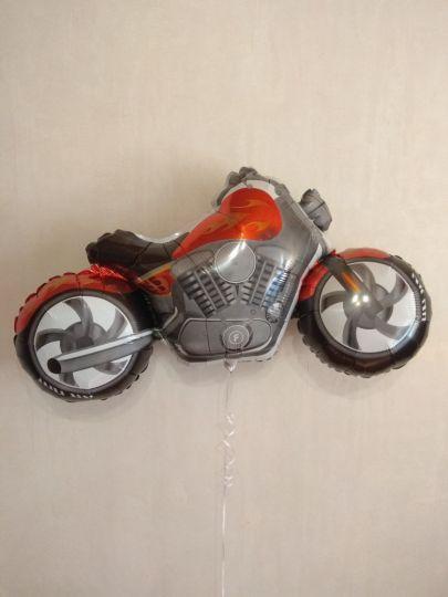 Мотоцикл фольгированный шар с гелием