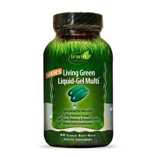 Irwin Naturals Комплекс для мужчин Living Green Liquid-Gel Multi, 90 капсул