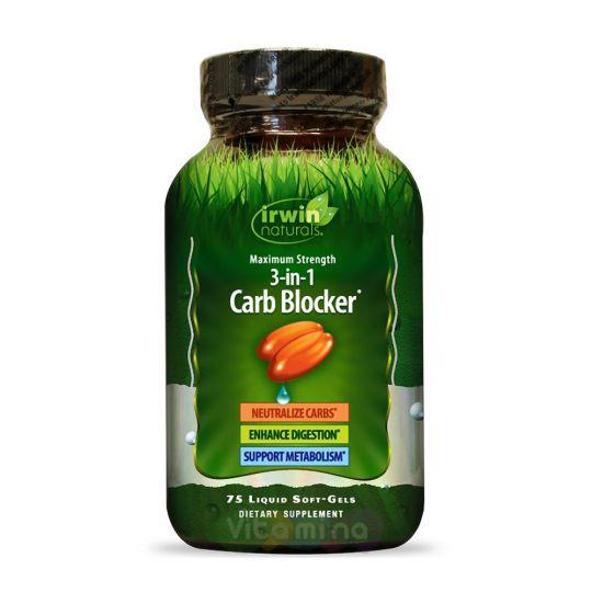 Irwin Naturals Блокиратор углеводов Carb Blocker, 75 капсул