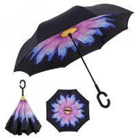 Купить Зонт наоборот Фиолетовый пламенный цветок недорого с доставкой