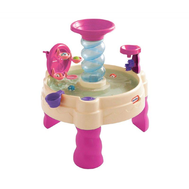 Песочница-водный стол Little Tikes спиральный фонтан 173769
