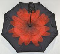Купить умный зонт Красный цветок недорого с доставкой