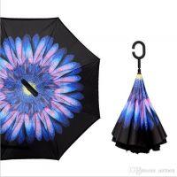 Купить Умный зонт Голубой сказочный цветок недорого с доставкой