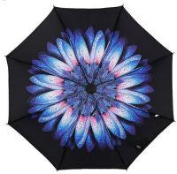 Купить Зонт наоборот Голубой сказочный цветок недорого с доставкой