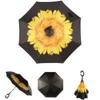Купить Зонт наоборот Жёлтый цветок недорого с доставкой