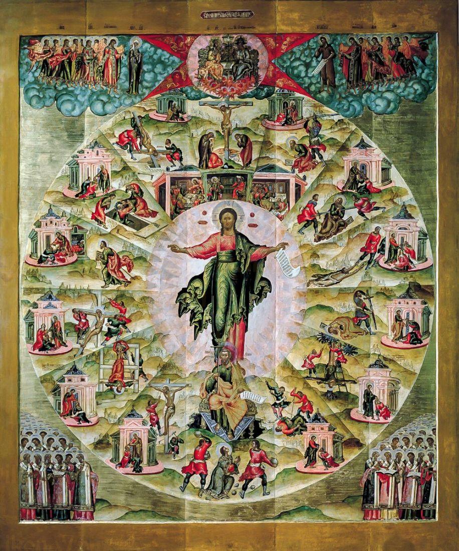Икона Апостольская проповедь (копия 17 века)