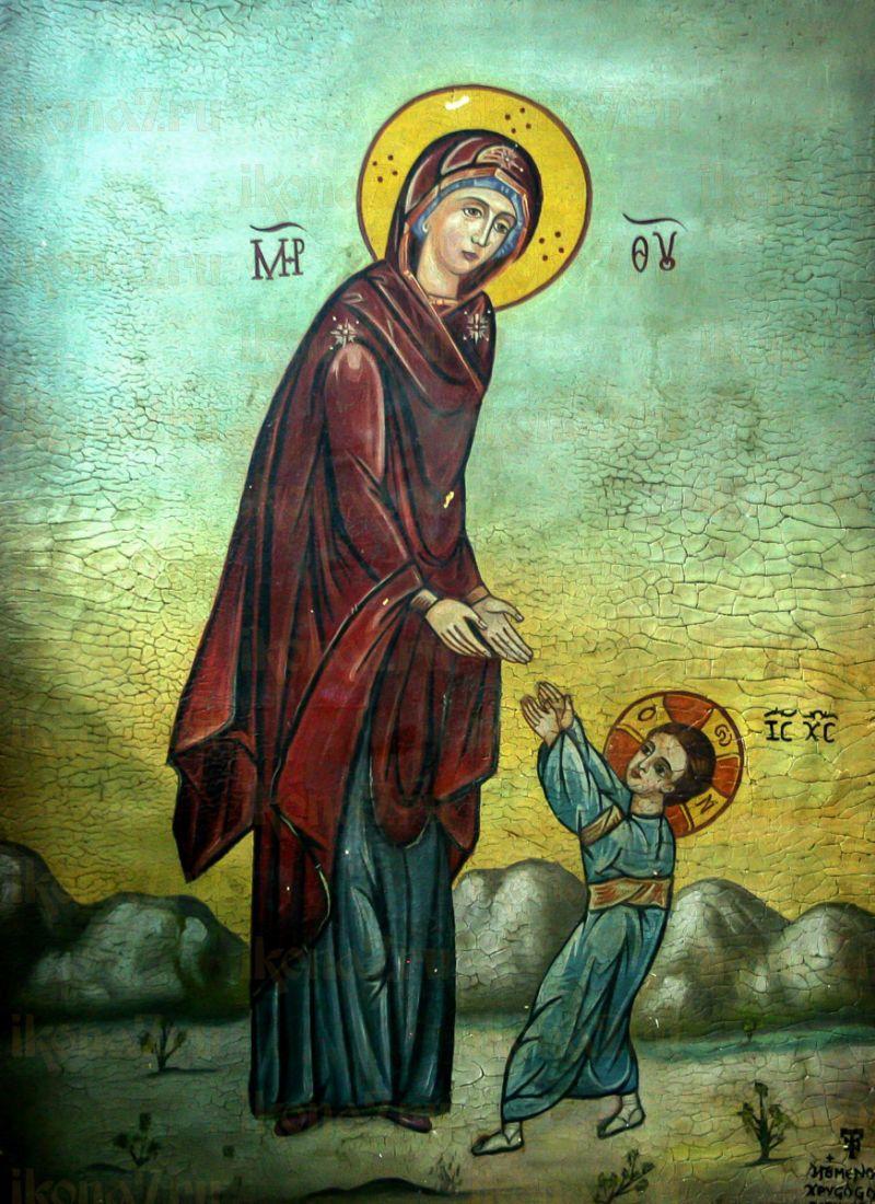 Икона Первые шаги Иисуса Христа (копия старинной)