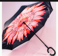 Купить Зонт наоборот Розовый пламенный цветок недорого с доставкой