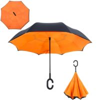 Зонт наоборот однотонный купить в москве