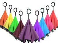 Зонт наоборот однотонный в ассортименте