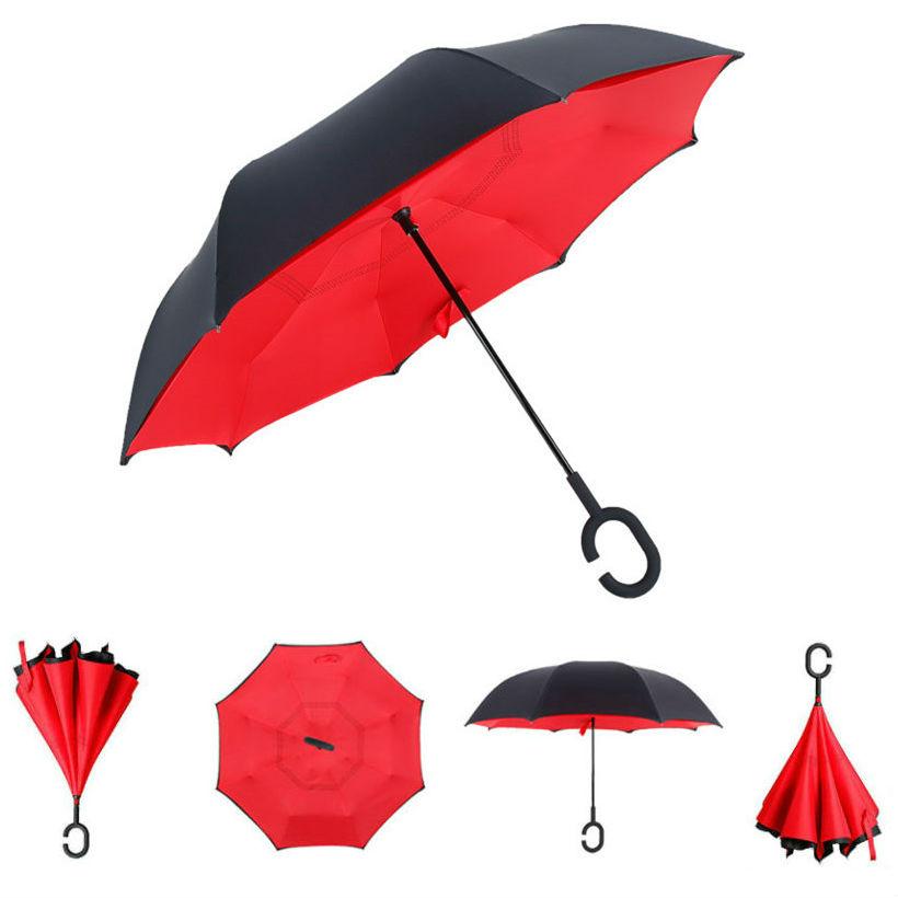 Зонт наоборот Красный