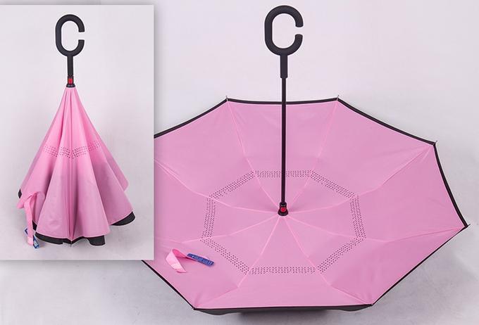 Купить Зонт наоборот Розовый недорого с доставкой