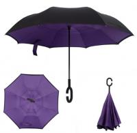 Купить Зонт наоборот Фиолетовый недорого с доставкой