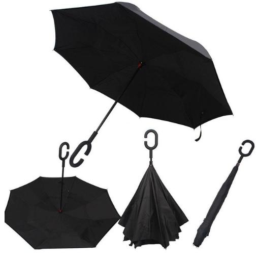 Зонт наоборот Чёрный