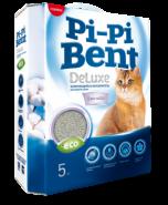Pi-Pi-Bent DeLuxe Clean cotton Комкующийся наполнитель (5 кг)