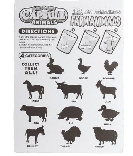 Купить Растущие животные в капсулах  в москве