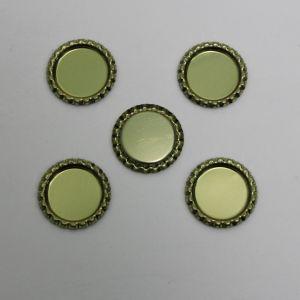 `Крышка, металл, Д.вн. 25 мм, Д.наруж. 31 мм, цвет №А02 золото