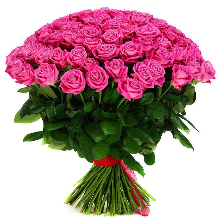Букет из розовых роз 101 шт 60 см «Заветная мечта»
