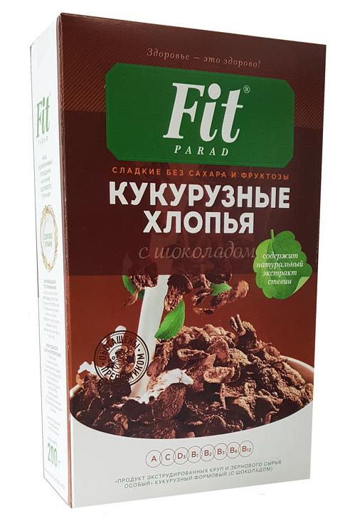 Кукурузные хлопья Фит с шоколадом 200г.
