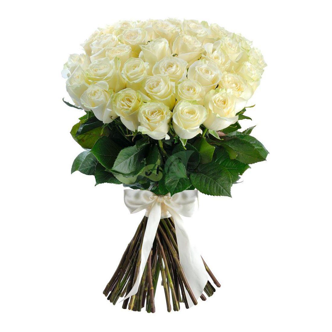 Букет из белых роз «Романтика»