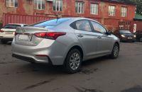 Аренда автомобиля Hyundai Solaris 2017 серебристого цвета