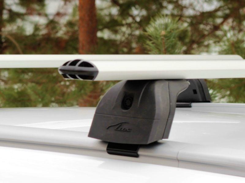 Багажник на крышу Lifan X70 2017-..., Lux, аэродинамические дуги (73 мм) на интегрированные рейлинги