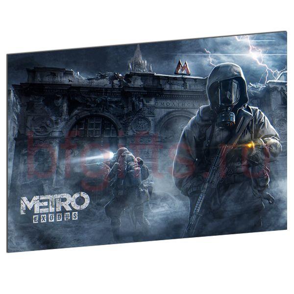 Табличка из металла Метро 2033 EXODUS