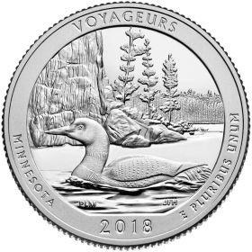 Национальный парк Вояджерс  25 центов США 2018 Монетный Двор на выбор