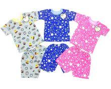"""Костюм: футболка, шорты kC-KS069-SU (супрем, звезды)   Код товара 01661   Оптом от производителя """"Мамин Малыш""""   Размеры 62-68-74-80-86   Цвет в ассортименте"""