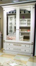 Шкаф ЭЛЕГАНЦА  В для одежды с зеркалами 2-дверный эмаль