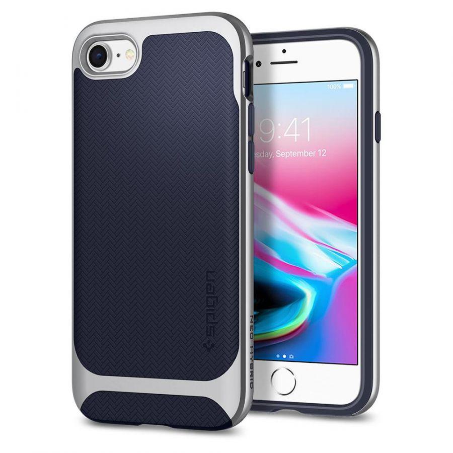 Чехол Spigen Neo Hybrid Herringbone для iPhone 8 серебристый