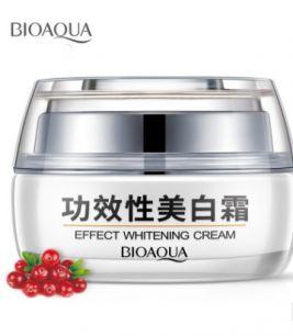 Отбеливающий крем «BIOAQUA»  Effect Whitening Cream с клюквой. (9774)