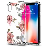 Чехол Spigen Liquid Crystal Aquarelle для iPhone X розы