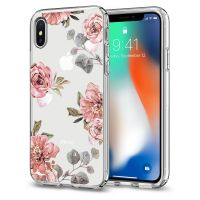 Чехол SGP Spigen Liquid Crystal Aquarelle для iPhone X/XS розы