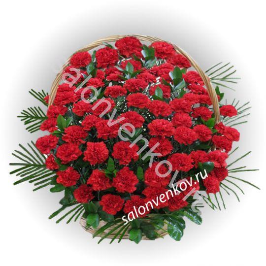Траурная корзина из живых цветов N54, высота 70см