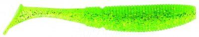 СИЛИКОНОВЫЕ ПРИМАНКИ SAKURA SLIT SHAD 50мм (уп. 20 шт.) цв. #055 Ghost Lime Chartreuse