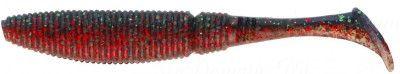 СИЛИКОНОВЫЕ ПРИМАНКИ SAKURA SLIT SHAD 50мм (уп. 20 шт.) цв. #065 Blood Emerald