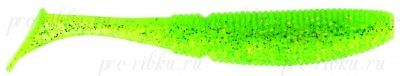 СИЛИКОНОВЫЕ ПРИМАНКИ SAKURA SLIT SHAD 85мм (уп. 10 шт.) цв. #055 Ghost Lime Chartreuse