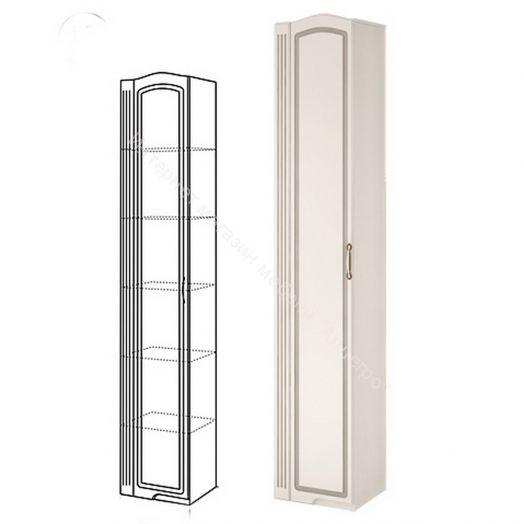 Шкаф-пенал для белья (левый) Виктория Белый глянец
