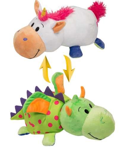 Мягкая игрушка Вывернушка 2 в 1 Единорог - Дракон,  1 TOY 40 см