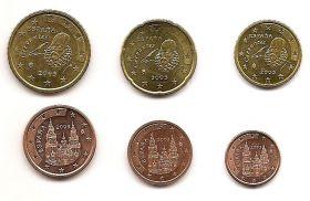 Набор евроцентов Испания 2003 (6 монет)