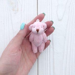 Мини мишка для куклы, розовый, 6 см