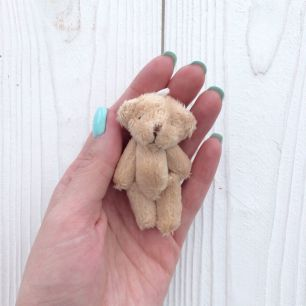 Мини мишка для куклы, бежевый, 7 см